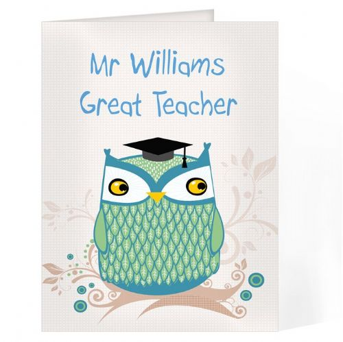 Mr Owl Teacher Card
